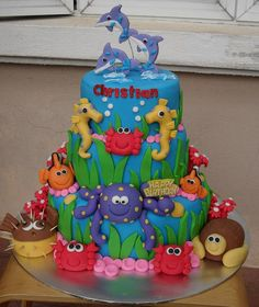 Under water party Cake