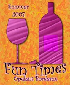 Another fun and vibrant custom personalized wine label.