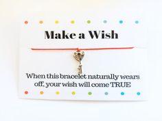 Key Bracelet Make a Wish Key Bracelet Red String Bracelet Key Bracelet, Red String Bracelet, Bracelet Making, Make A Wish, How To Make, Wish Bracelets, Unique Jewelry, Handmade Gifts, Etsy
