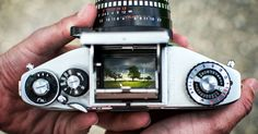 Photographer Captures Landscapes in the Viewfinder of a 35mm SLR #photography