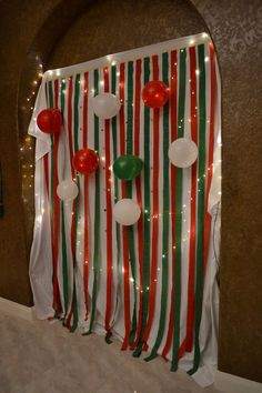Photo booths have been popular for decades at malls and arcades across the country, so it's no surprise that they're now a must-have item at weddings,. for christmas party Stunning DIY Christmas Photo Booth Backdrop Ideas Christmas Photo Booth Backdrop, Christmas Backdrops, Christmas Photos, Photobooth Christmas, Christmas Pajama Party, Tacky Christmas Party, Christmas Diy, Homemade Christmas, Work Christmas Party Ideas