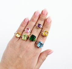 Vintage ring candy!  https://www.etsy.com/shop/MaejeanVintage?section_id=7131651  #gemstones #vintagerings #yummy #Etsy #Maejean
