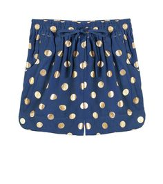 Gold foil Dot Shorts in Navy   AU$129   Gorman
