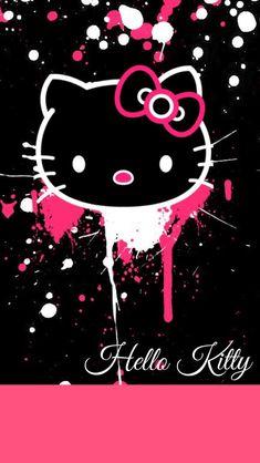 Splattered paint kitty
