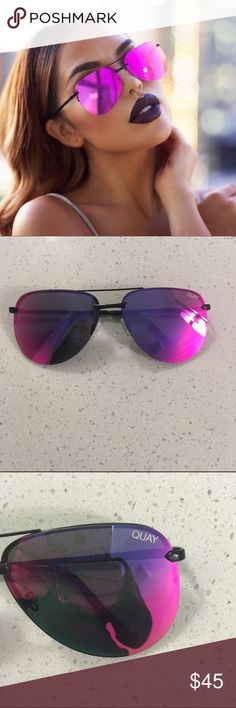 Brand new Quay Playa sunglasses in pink Comes with a soft case. Will trade for other Quay sunglasses. Quay Australia Accessories Sunglasses