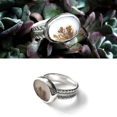 """Malou Paul (@maloupaul_jewellery) on Instagram: """"Still in love with this dendritic agate beauty! A stunner silver ring that matches any outfit.…"""""""