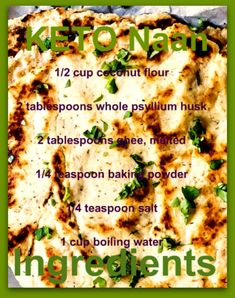 Grain-free Naan – Weight Loss Plans: Keto No Carb Low Carb Gluten-free Weightloss Desserts Snacks Smoothies Breakfast Dinner… Naan Sans Gluten, Gluten Free Naan, Pan Sin Gluten, Gluten Free Grains, Gluten Free Chicken, Paleo Naan, Easy Naan Recipe, Recipes With Naan Bread, Keto Foods