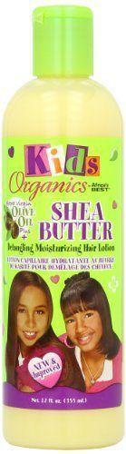 Africas Best Kids Organic Shea Butter Detangling Moisturizing Hair Lotion 12 O
