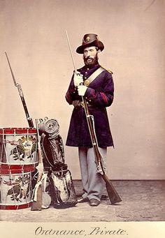 American Civil War Enlisted Uniforms - Ordnance Private