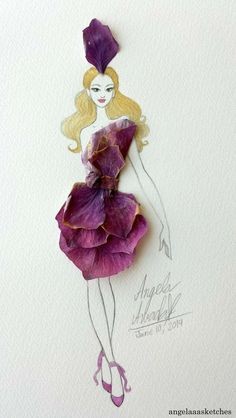 Blake Lively Style, Adobe Photoshop Elements, Wild Orchid, Purple Rain, Copic Markers, Character Description, Drawing Tools, My Drawings, Cool Girl