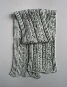 Ancient Stitch Scarf - free pattern based on earliest knitting sample ever found (2000 years old)