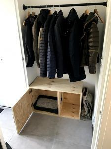 Cat Work, Dog Furniture, Litter Box, Small Apartments, Wardrobe Rack, Dog Cat, Kitten, Catfish, Bedroom Ideas