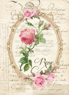 Bonitas imagenes vintage para decoupage y transfer Vintage Labels, Vintage Ephemera, Vintage Cards, Vintage Paper, Vintage Postcards, Floral Vintage, Vintage Flowers, Vintage Prints, Vintage Pictures