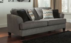 Consider color, size, and style when choosing a new sofa.