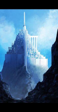 Foto Fantasy, Fantasy City, Fantasy Castle, Fantasy Places, Fantasy World, Dark Fantasy, Fantasy Art Landscapes, Fantasy Landscape, Landscape Art