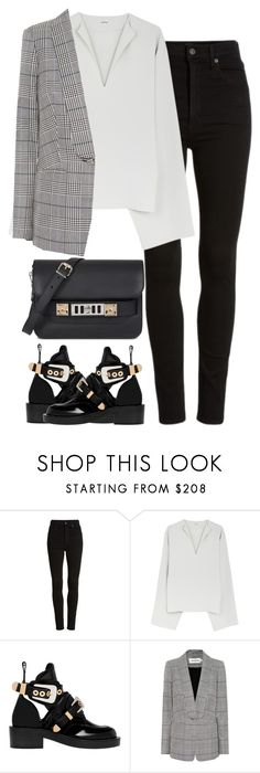 """Untitled #3286"" by elenaday on Polyvore featuring Citizens of Humanity, Balenciaga, self-portrait and Proenza Schouler"
