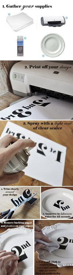 """DIY transfer decal tutorial >> looks so simple! > looks so simple!""""> DIY transfer decal tutorial >> looks so simple! Diy Projects To Try, Crafts To Make, Fun Crafts, Craft Projects, Paper Crafts, Craft Ideas, Wood Projects, Diy Ideas, Craft Gifts"""