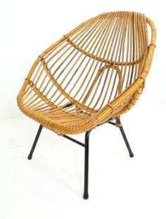 Dirk van Sliedrecht; Enameled Metal and Rattan Chair for Rohe Noordwole, 1950s. - Google-søgning