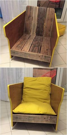 Have you ever thought about designing the bottom height chair piece of wood pallet? If not, then here we have the idea of DIY pallet chair. You can keep it in your bedroom or in living areas perfectly. It do has a shape of broad variation of style. You can afterwards cover it with the soft cushion foam for the comfort zone of the sitters.