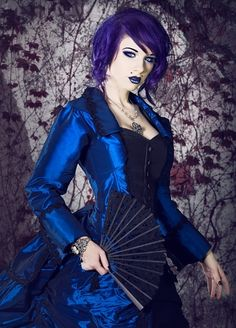 Neon Steampunk neo-Victorian - fun Steampunk Funk!!  Love it, maybe with yellow hair ;)