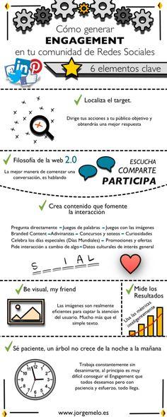 Cómo generar engagement en Redes Sociales #infografia en español
