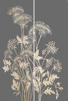 Earth de Fleur Homewares - Botanica Detail III Carved Artwork Wall Decor
