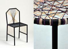 Natural braiding Chaises & tabourets tressés Structures métalliques, boyaux, teinture