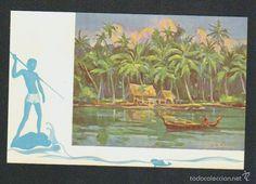 Postales: Islas Carolinas.Vivienda de la isla de Yap.Misión de Carolinas.ayudad a sus misioneros. - Foto 1 - 59529079