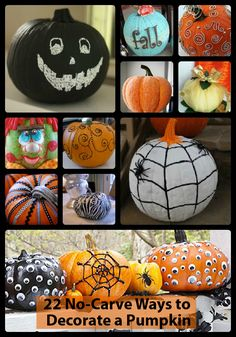 If you're not a fan of pumpkin guts, try these amazing ideas for decorating pumpkins without a knife!