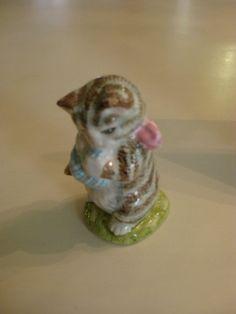 Beatrix Potter Beswick Miss Moppet Figurine by McGregorsGarden, $30.00