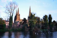 https://flic.kr/p/iB3FM9 | Cathedral Church of Lichfield, Staffordshire | The mediaeval cathedral of the Blessed Virgin Mary and St Chad in Lichfield. Lichfield is the principal cathedral in the centre of England, near to the Anglo-Saxon capital of Mercia.