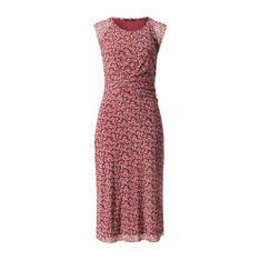 Mesh-Kleid mit Drapierung auburn