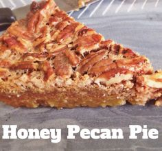 Honey Pecan Pie | Gluten Free, Grain Free, SCD Pumpkin Pie | The Tao of Dana