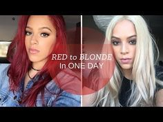 How I Went From Red To Blonde Hair At Home Drugstore Products