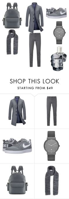 """Untitled #45"" by jrbouh ❤ liked on Polyvore featuring BOSS Orange, NIKE, Skagen, BUSCEMI and Bickley + Mitchell"