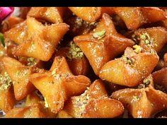9407b7b9d حلى النجمة بالسميد حلويات سهلة وسريعة بدون فرن مع رباح محمد ( الحلقة 416 )