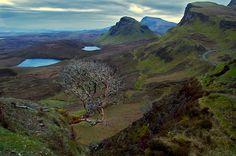 the quiraing, on the isle of skye in scotland.