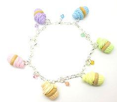 Pastel Vanilla Cupcakes Bracelet
