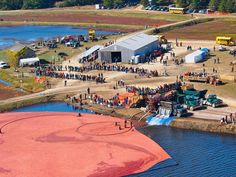 Fall Festivals: Cranberry Harvest Celebration, Wareham, MA.No matter the weather, the annual Cranberry Harvest Celebration in Wareham is going to happen. Guests get the opportunity to watch demonstrations of the wet cranberry harvest and cooking displays. There is a humungous tent filled with juried crafters, paddleboat rides across Tihonet Pond, the most delicious food vendors, and of course, music. Admission is only $10 and children under seven get in for free.