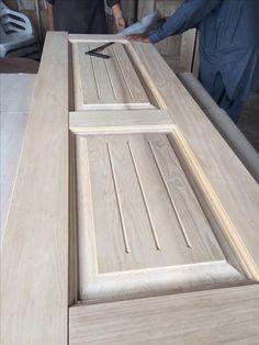 Wooden Door Design, Wooden Doors, My Home Design, House Design, Window Protection, Double Door Design, Joinery Details, Bathroom Layout, Entrance Doors