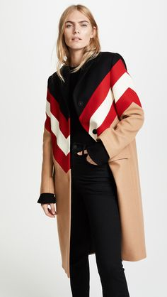Its my fave, wool coat Wool Overcoat, Wool Coat, Fashion To Figure, Msgm, Chevron, Duster Coat, My Style, Womens Fashion, How To Wear