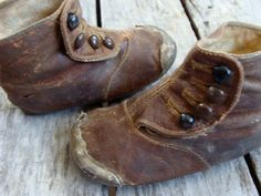 Antique Old Tattered Edwardian Gorgeous High Button Boots for Small Child.via Etsy.