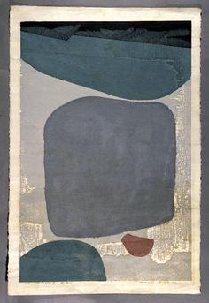 3/50. Inscribed and signed.  Masaji Yoshida  Silence no. 74, 1954  woodblock print