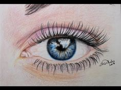 ▶ Cómo dibujar un ojo (prismacolor) / How to draw an eye - YouTube