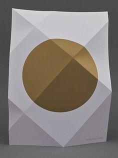 Creative Artworklove and Fold image ideas & inspiration on Designspiration Graphic Design Posters, Graphic Design Inspiration, Type Posters, Designers Gráficos, Origami, Buch Design, Editorial Design, Invitation Design, Invite