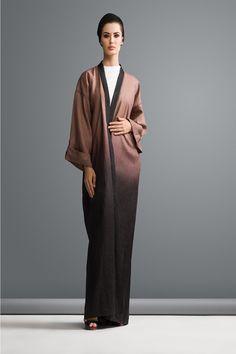 ombre linen abaya