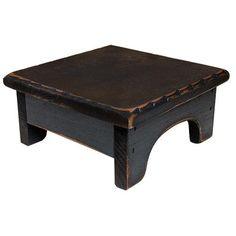Black Distressed 9 inch Square Wood Candle Riser Primitive Country Decor | Collectibles, Decorative Collectibles, Candles, Holders | eBay!