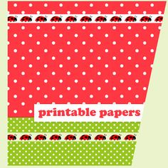 FREE printable polka dot and ladybug scrapbooking and fun papers ♡ ♡ ♡
