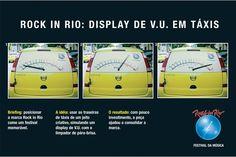 Rock In Rio. Display de V.U em táxis.