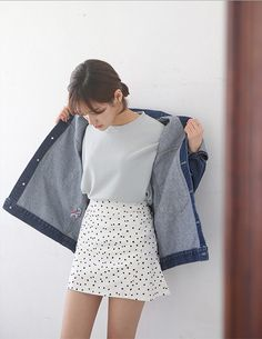 Polka Dots + Denim